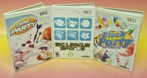 Game Party 1, Block Party, Big League Sports - Nintendo Wii 3 Game Lot Working