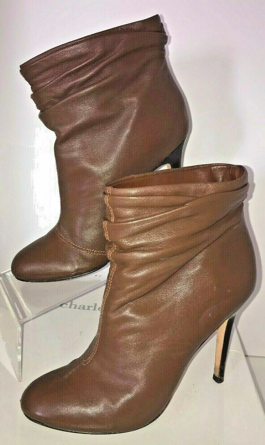 Charles David Leather Boots women's shoes boots Heels Stiletto Soft Saundra