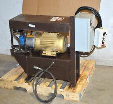 Baldor 3 Hp 3 Ph Motor Hydraulic Vane Pump Power Unit 85 Gal Tank Controller Ac