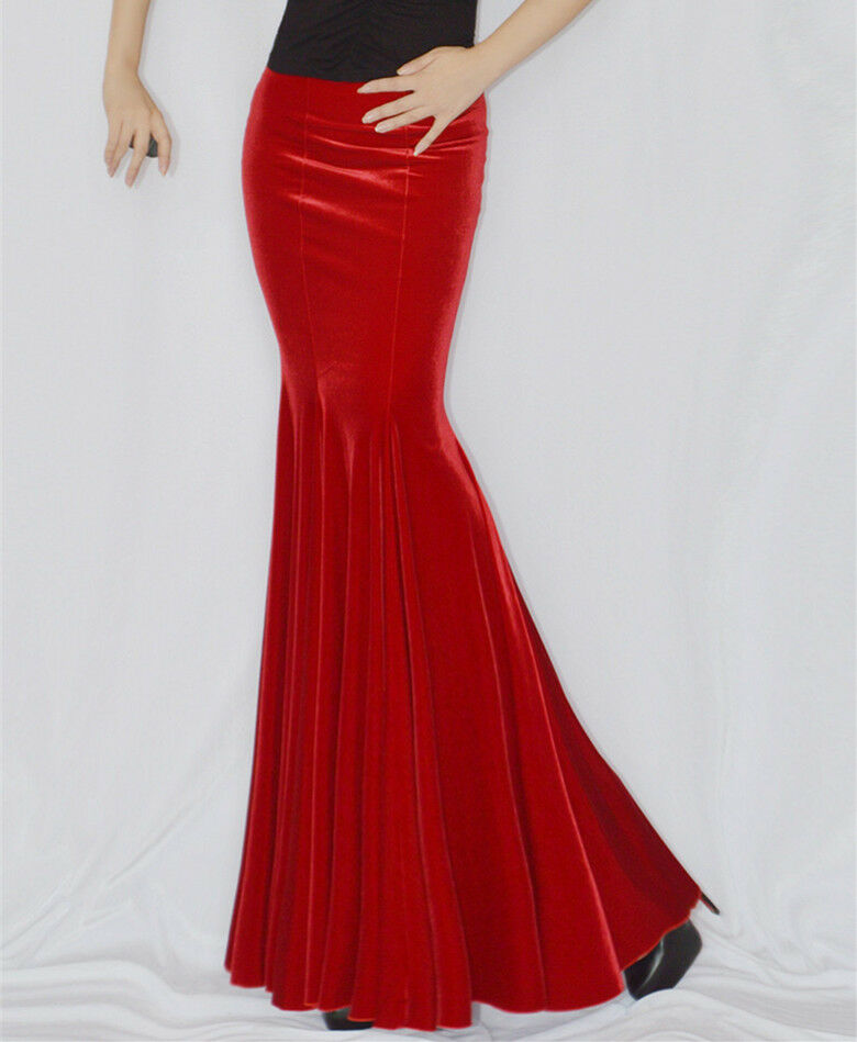 Women's Body Fit Casual Sexy Fishtail Pencil Mermaid Party Evening Dress Skirts