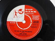 JOHN LEYTON You took my love for granted TOP RANK JAR585
