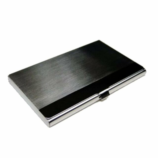 Metal business card case name id card holder stainless steel 2y8 ebay business name card holder metal stainless steel case silver926cm ad colourmoves
