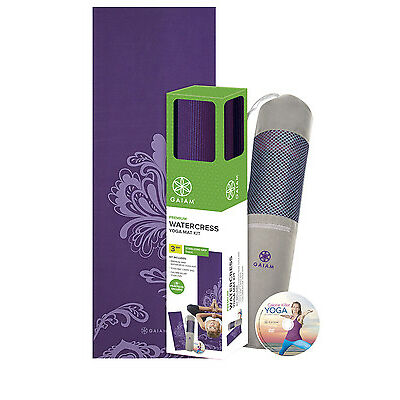 NEW Gaiam Watercress Yoga Mat Kit