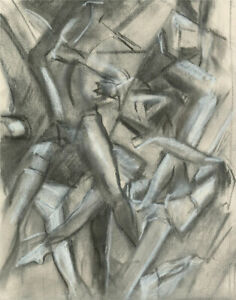 Susan Paine - Contemporary Charcoal Drawing, A Tangle Of Limbs