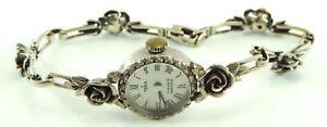 Teka-Vintage-Damenuhr-17-Rubis-Handaufzug-925er-Silber