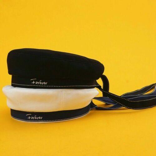 Lady Cotton Beanie Béret Casquette Plate Chapeau militaire armée française Rétro Fashion Solid