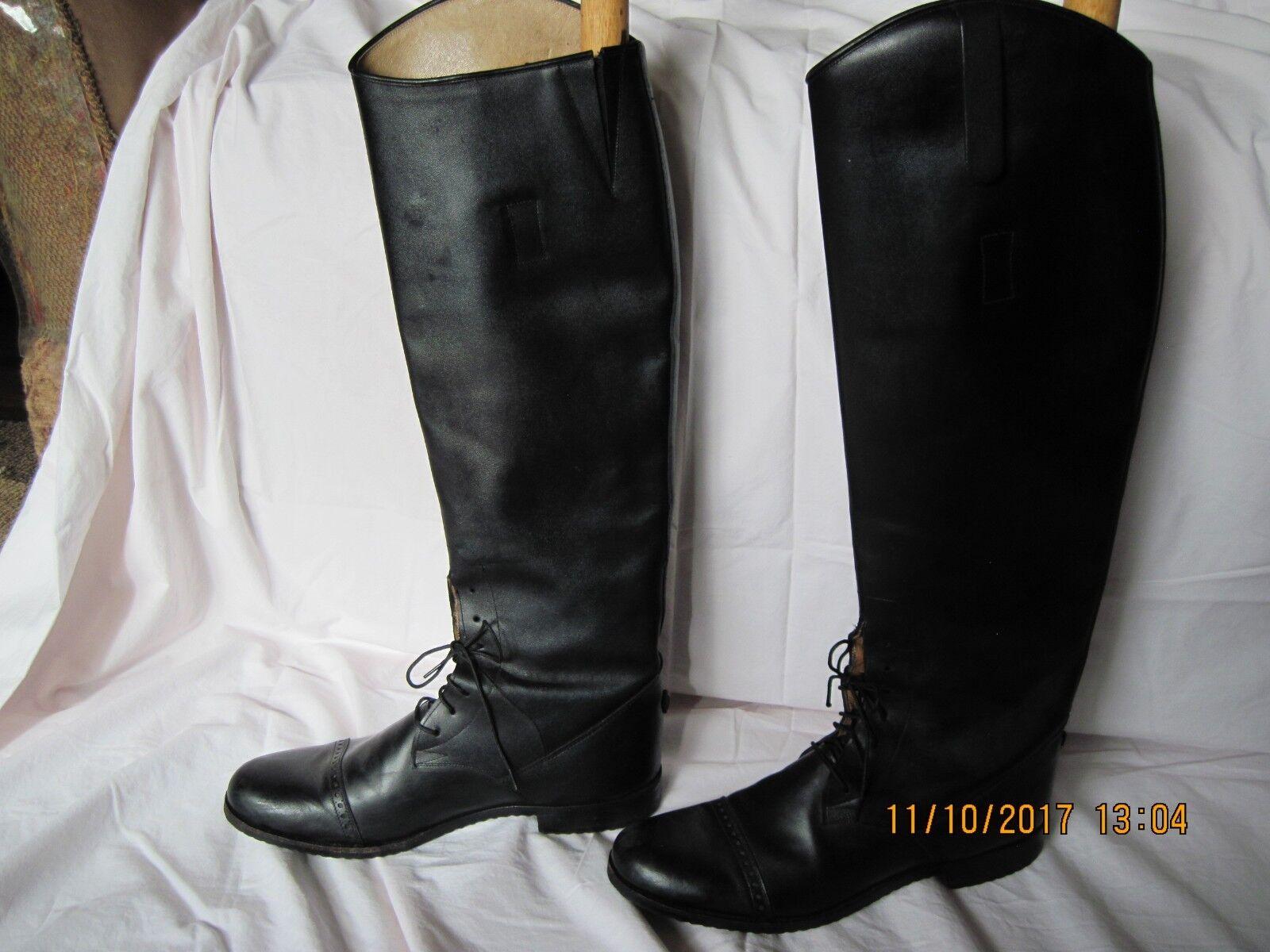 Der Dau botas de Montar Talla personalizado hecho a mano de cuero con cordones para mujer 10.5