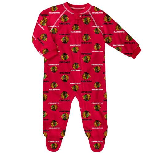 NHL Chicago Blackhawks AOP Schlafanzug Strampler Neugeborene Baby Fanatics Eishockey
