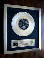 """THE BEATLES CAN'T BUY ME LOVE PLATINUM DISC 7"""" SINGLE RECORD DISC AWARD"""