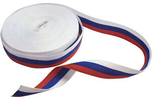 Roll ft yd meters Moscow Russian Patriotic Victory Flag Tricolor Medal Ribbon
