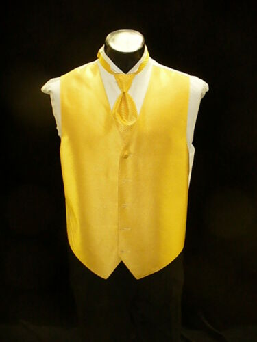 bright Yellow Formal Vest Full Back Saffron Vest VF652