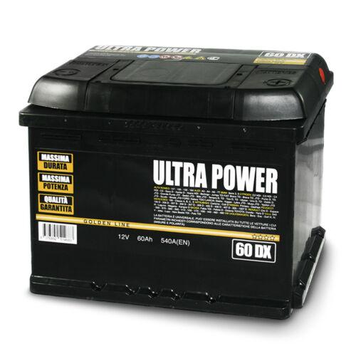 UltraPower batteria per auto 60 ah dx 540a pronta all'uso lunga durata e potenza
