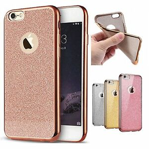 Rose Gold Bling Glitter Detachable Ultra Thin Soft GEL TPU Case for iPhone 7