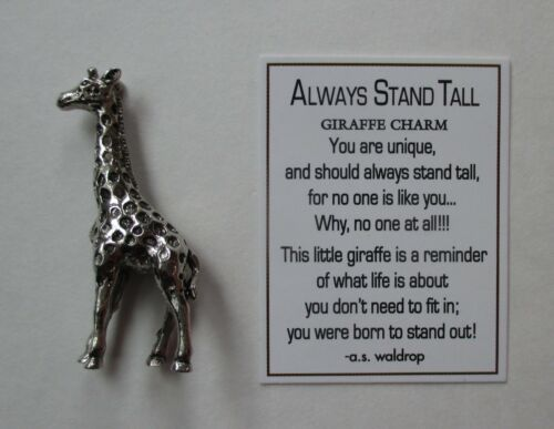 G ALWAYS STAND TALL giraffe Pocket charm figurine Ganz stand out be confident