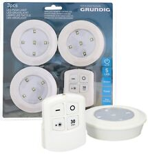 show original title Details about  /3 Grundig Pressure Lights /& Remote Control 5 SMD LEDs Dimmable Touch Print function