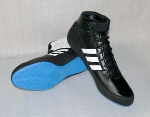 Details zu Adidas Performance HVC G96982 Herren Wrestling Schuhe Boots Schwarz Weiß Blau 48