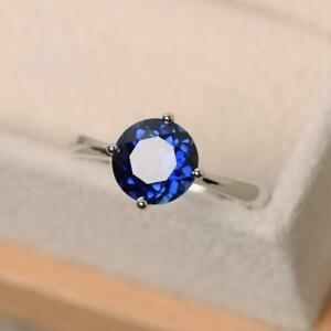 Sterling-Silver-Natural-Certified-5-Ct-Blue-Sapphire-Antique-Gift-Ring-For-Her