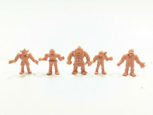 Lot-of-5-Vintage-M-U-S-C-L-E-Flesh-Muscle-Men-Figures-Kinnikuman-Mattel-1980s