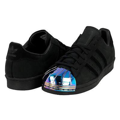 Adidas Superstar 80s metal del dedo del pie tenis Reino Unido 8.5