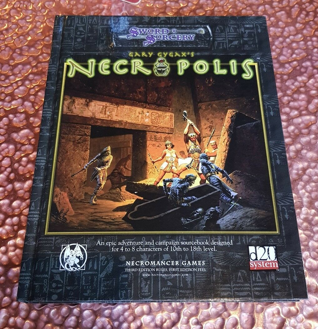 Necropoli-Gary Gygax D20 RARA DND D&D Ruolo Roleplay NUOVO RPG bianca  WOLF