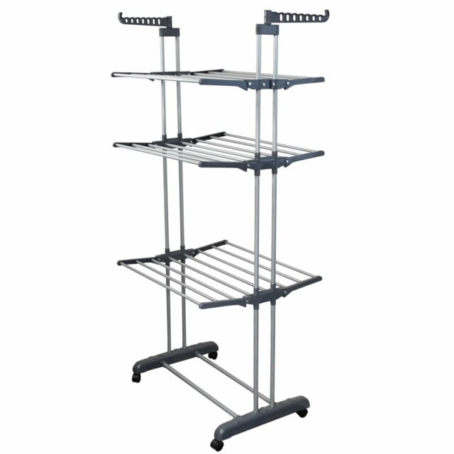Bonbon 3 Tier Clothes Drying Rack Folding Laundry Dryer Hanger Compact Storage