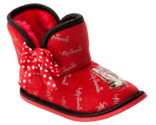 GIRLS OFFICIAL BRANDED CHARACTER NOVELTY PULL ON BOOTIE SLIPPERS UK SIZE 5-1