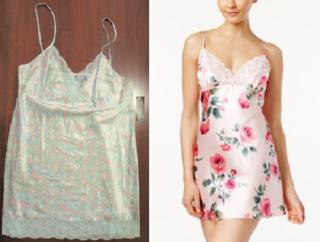 Thalia Sodi Lace-Trimmed Floral-Print Chemise Nightgown