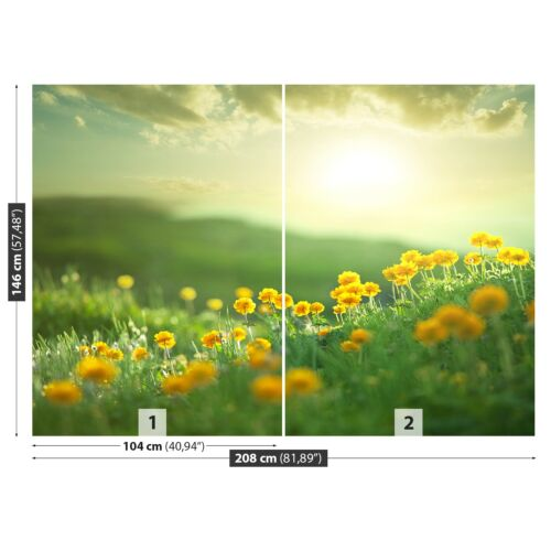 Non woven Wall Mural Photo Wallpaper Poster Picture Image Meadow