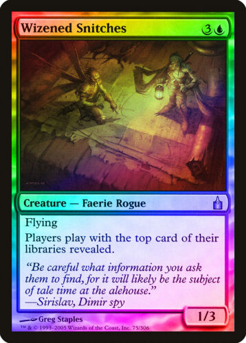 City of Guilds NM-M Blue Uncommon CARD ABUGames Wizened Snitches FOIL Ravnica