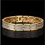 18-karat-Armkette-Armreif-Edelstahl-Armband-21cm-Herren-Damen-Maenner-vergoldet Indexbild 1