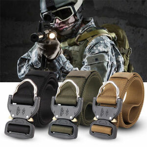 6a92ccab66a5 Tactical Heavy Duty US Soldier Mens Military Belt Web Combat Army ...