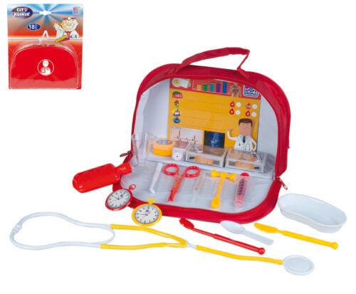 Kinder Spielzeug  Doktorkoffer Arztkoffer  Doktortasche  18 Teilig  Neu !
