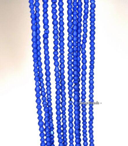 "2MM AZURA BLUE GEMSTONE BLUE DIAMOND HEXAGON 1.5-2MM LOOSE BEADS 16/"""