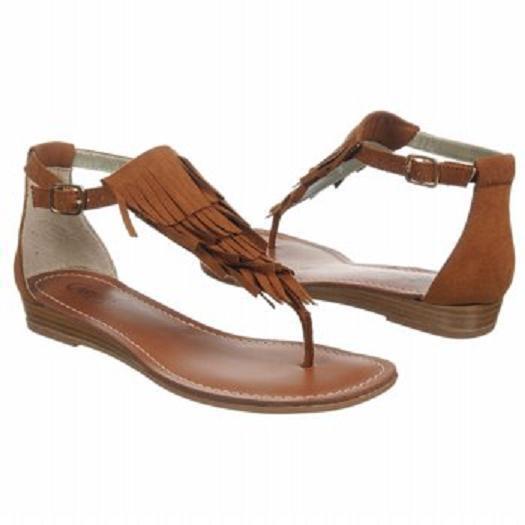 Carlos Santana Trinidad thong sandals brown 6 Med NEW