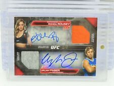 2016 Topps UFC Knockout Ronda Rousey Urijah Faber Dual Relic Auto #1/5 R98