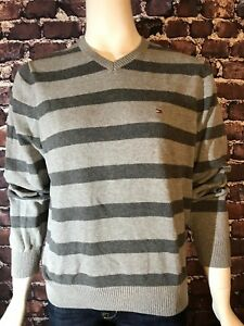 Details about Tommy Hilfiger Mens Sweater Charcoal Gray Size XS Pullover 12 Zip