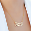 thumbnail 8 - Personalized FINE Sterling Silver 14K Gold ANY Name Plate Necklace + Free Chain