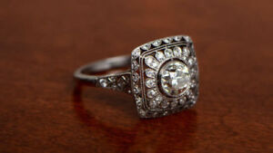 Art Deco 3.35 CT Round Cut Diamond Vintage Engagement Ring 925 Sterling Silver
