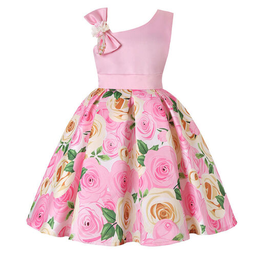 Girls Baby Floral Gown Dress Wedding Princess Bridesmaid Party Prom Tutu Dresses