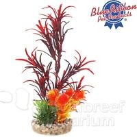 Red Sea Grass Bouquet Free-standing Plastic Weighted Base Colorburst Plant 6.5