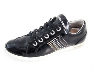 c82490a0319 Image is loading Dolce-amp-Gabbana-fashion-sneakers-black-leather-women-