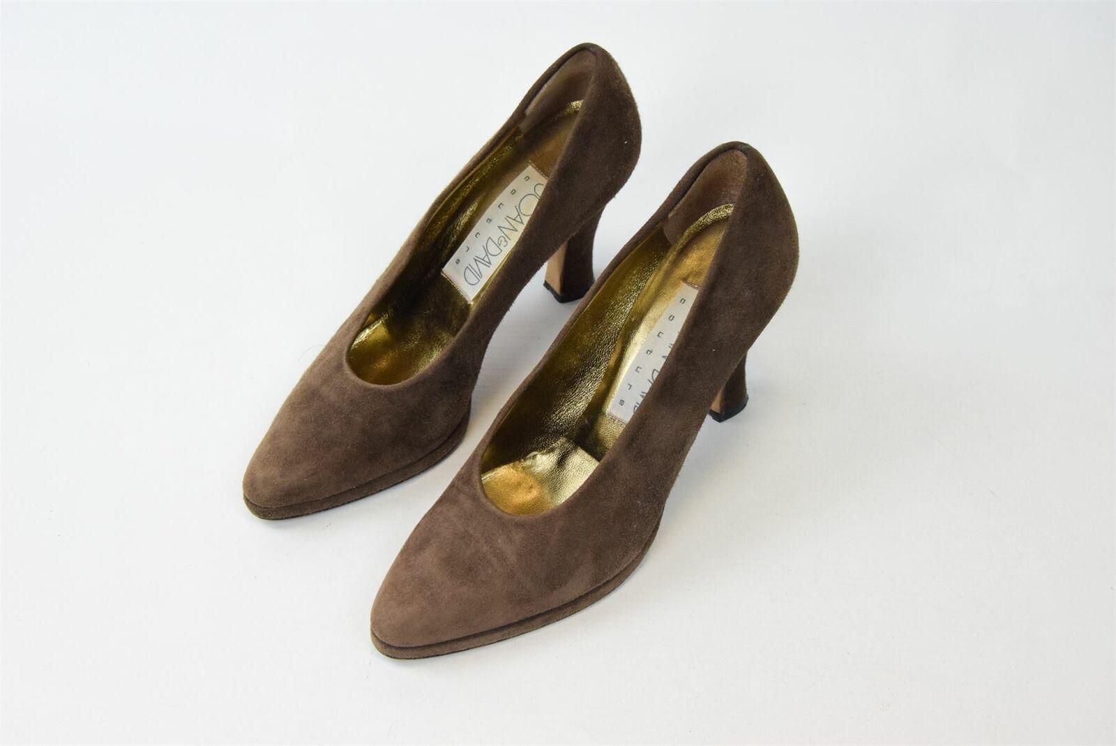 JOAN & DAVID Brown Suede Heels, UK 3.5 US 6.5 EU 36.5 HEELS 3