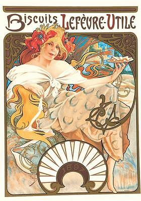 Alphonse Mucha Biscuits Poster Limited Edition Fine Art Lithograph S2