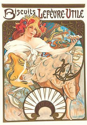 Alphonse Mucha Lefevre Utile Museum Edition Lithograph COA S2 Art