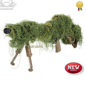 1-2m-Elastic-Fiber-Synthetic-Ghillie-Paintball-Airsoft-Rifle-Camo-Gun-Rifle-Wrap