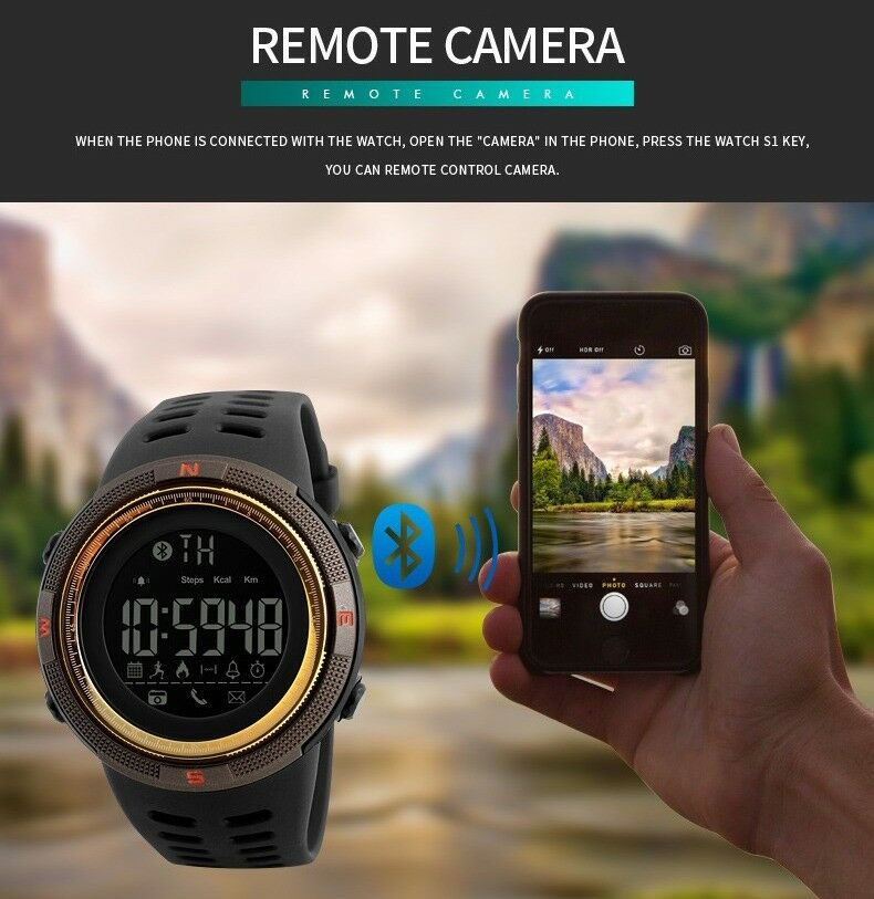 Details about Sport 50M Waterproof Bluetooth Smart Watch APP Camera Phone  Mate For Android iOS