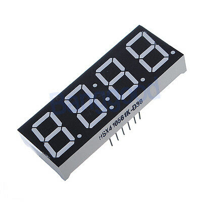 """1X LED Display 0.56"""" 7-Segment 4 Digit Super Red Common Anode Time 12 Pins NEW"""
