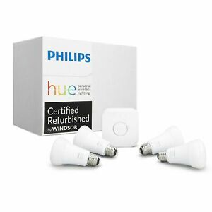 Philips-Hue-Gen-3-60W-A19-White-amp-Color-Ambiance-Smart-4-Bulb-Kit-471960