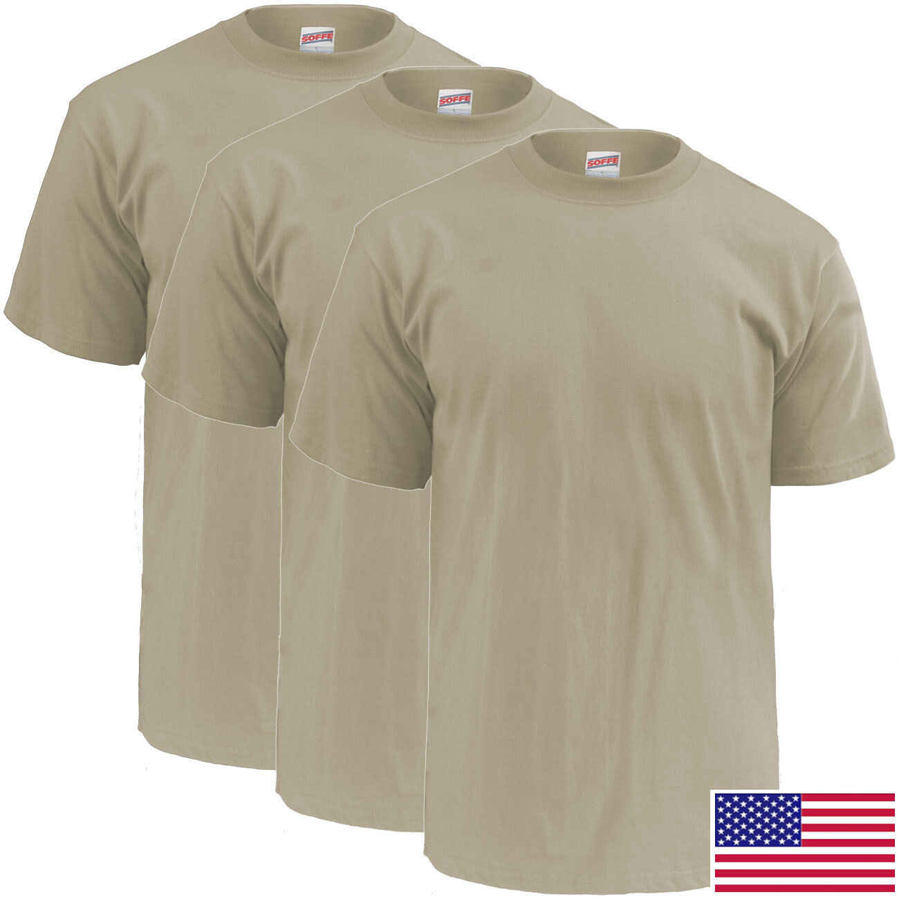 0da52179 Soffe Mens Blend 3 Pack Military T Shirts – EDGE Engineering and ...