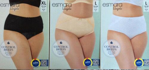 Esmara L XL XXL Control Briefs  Black Peach White